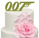 007 Gun James Bond Theme Cake Acrylic Topper